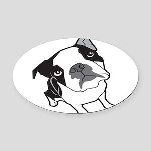 bterrier,black Oval Car Magnet