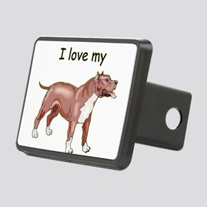 pitbull,-i-love-my,png Rectangular Hitch Cover