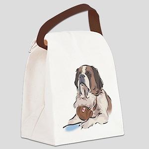 Saint-Bernard Canvas Lunch Bag