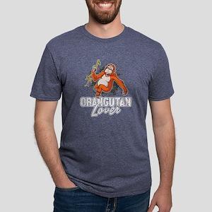 ORANGUTAN LOVER T-SHIRT Mens Tri-blend T-Shirt