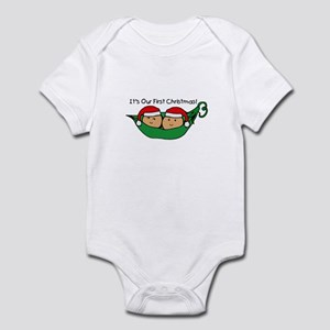 Pod Twins First Christmas Infant Bodysuit