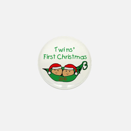 Pod Twins First Christmas Mini Button