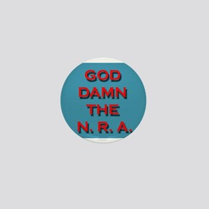 Damn the NRA Mini Button
