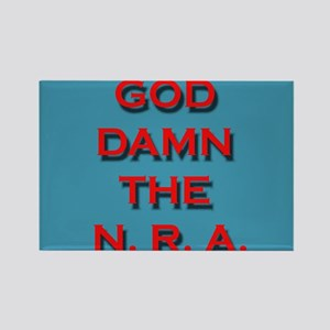 Damn the NRA Rectangle Magnet