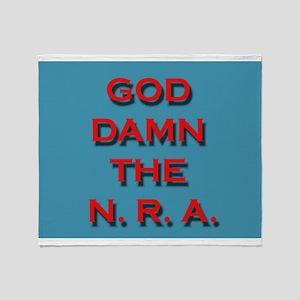Damn the NRA Throw Blanket