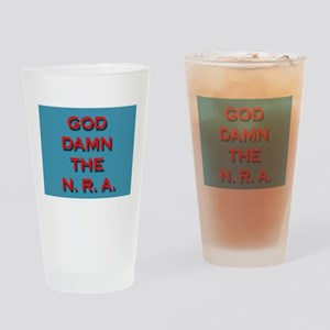 Damn the NRA Drinking Glass