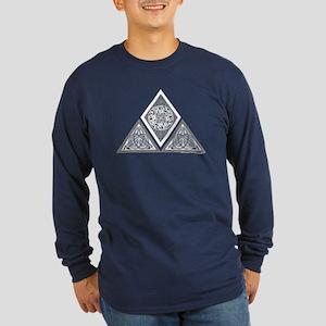 Celtic Pyramid Long Sleeve Dark T-Shirt