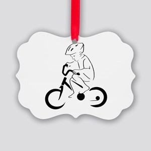 Child Cyclist Picture Ornament