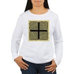 Celtic Square Cross (w/bg) Wmn's Lng Sleeve Tee