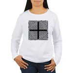 Celtic Square Cross Women's Long Sleeve T-Shirt