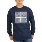 Celtic Square Cross Long Sleeve Dark T-Shirt