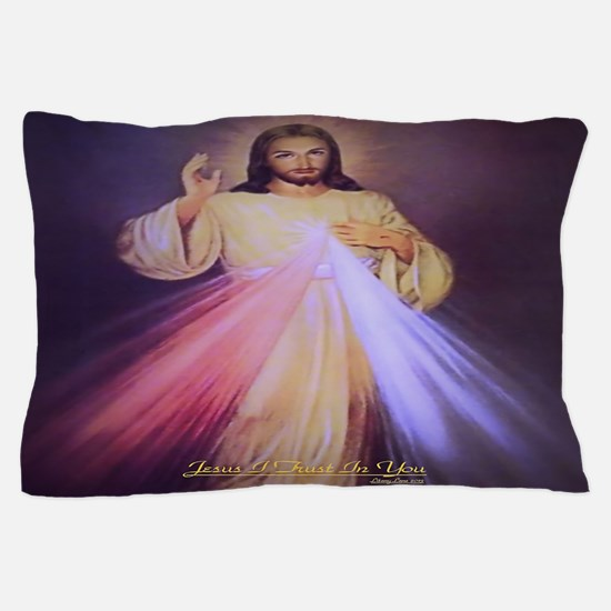Divine Mercy Gold Pillow Case