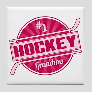 #1 Hockey Grandma Tile Coaster