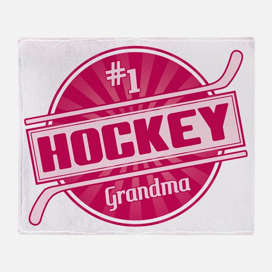 #1 Hockey Grandma Throw Blanket