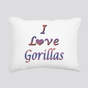gorillas Rectangular Canvas Pillow