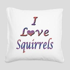 squirrels Square Canvas Pillow