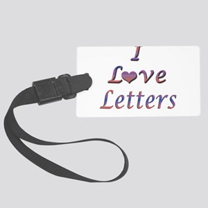 letters Large Luggage Tag