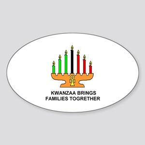Kwanzaa Oval Sticker