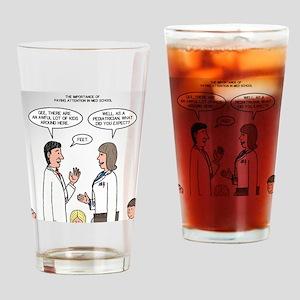 Pediatrician Quandry Drinking Glass