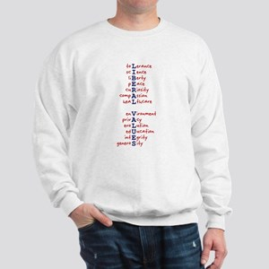 Liberal Values WordPlay Sweatshirt
