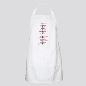 Liberal Values WordPlay BBQ Apron