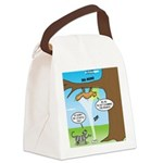 Fraidy Cat Canvas Lunch Bag