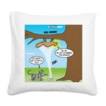 Fraidy Cat Square Canvas Pillow