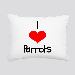 i-heart-parrots Rectangular Canvas Pillow