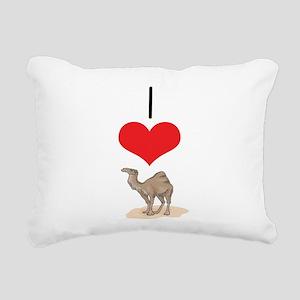 heart-camel Rectangular Canvas Pillow