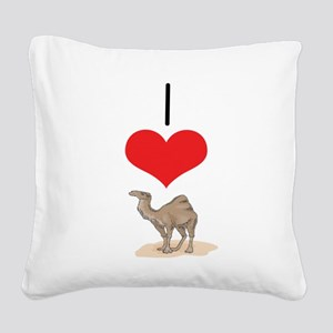 heart-camel Square Canvas Pillow