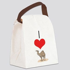 heart-camel Canvas Lunch Bag
