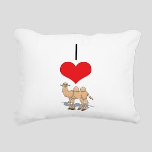 heart-camel1 Rectangular Canvas Pillow