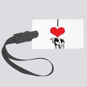 heart-cow Large Luggage Tag