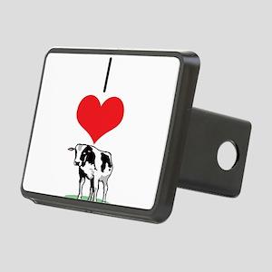 heart-cow Rectangular Hitch Cover