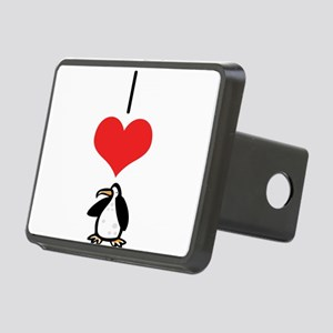 heart-penguins Rectangular Hitch Cover