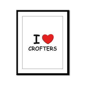 I love crofters Framed Panel Print