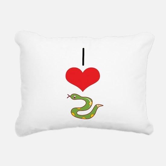 heart-snakes.png Rectangular Canvas Pillow