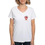 Caprini Women's V-Neck T-Shirt