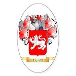 Capretti Sticker (Oval 50 pk)