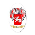 Capra Oval Car Magnet