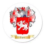 Capra Round Car Magnet