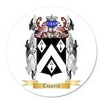 Cappuza Round Car Magnet