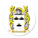 Capper Round Car Magnet