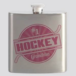 #1 Hockey Grandma Flask