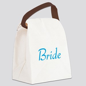 bride-blue Canvas Lunch Bag