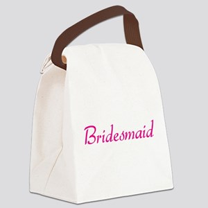 bridesmaid-pink Canvas Lunch Bag