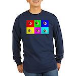Andy Warhola Bagels Long Sleeve Dark T-Shirt