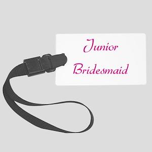 junior-bridesmaid-pink Large Luggage Tag