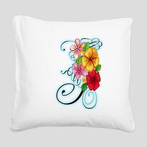 Flower Fusion Square Canvas Pillow