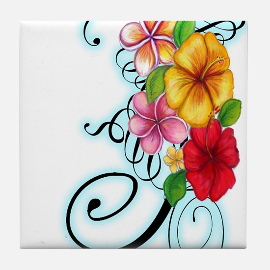 Flower Fusion Tile Coaster